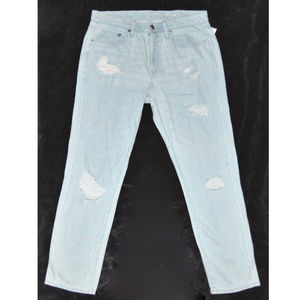 Gap Light Destructed Distressed Slouch Jeans